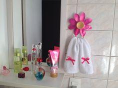 porta toalha de flor victoria's secret/ diy