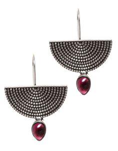Chic Maroon Drop Earrings