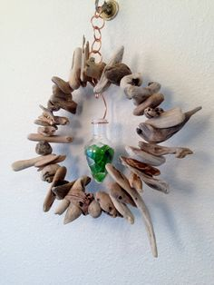 Driftwood Mobile Hanging Beach Sculpture with Sea by beachwalkerz, $34.99