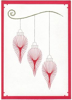 Paper Embroidery Amanda's Craft Space: More Prick-n-Stitch Cards Craft Space, Space Crafts, Christmas Card Crafts, Christmas Baubles, Xmas, Stitching On Paper, Card Patterns, Doily Patterns, Dress Patterns
