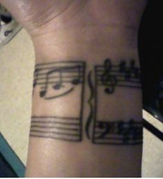 gorgeous Music note tattoo on wrist