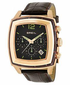 Breil Watch, Men's Chronograph Brown Croco Leather Strap 42mm TW1091