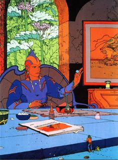 Starwatcher III — Moebius #moebius #illustration #comics