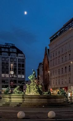 Donnerbrunnen on the Neuer Markt - Vienna, Austria Places To See, Places Ive Been, Heart Of Europe, Vienna Austria, Best Day Ever, Night Photography, Continents, To Go, Street View