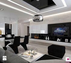 Aranżacje wnętrz - Salon: Mieszkanie 69 m2 w Siedlcach - Średni salon z kuchnią z jadalnią, styl nowoczesny - CUBE Interior Design. Przeglądaj, dodawaj i zapisuj najlepsze zdjęcia, pomysły i inspiracje designerskie. W bazie mamy już prawie milion fotografii!