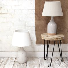 Newport Ceramic lamps || With lighting, as with all things in life, you should always start with a good base. This ceramic lamp base is perfect: strong, grounded and ready for you to build upon with one of our natural linen lampshades.