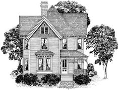 Victorian House Plan with 2321 Square Feet and 3 Bedrooms from Dream Home Source   House Plan Code DHSW64578