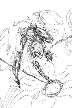 Spider-Man by Brett Booth Marvel Art, Marvel Dc Comics, Marvel Heroes, Comic Book Artists, Comic Artist, Comic Books Art, Superman, Batman, Comics Spiderman