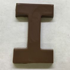 The letter I made of milk chocolate.