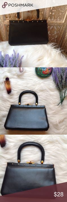 """Vintage frame handbag Vintage frame handbag. Some damage on the straps as you can see on the photos (where handle meets the bag) but it's does not affect the handle function because its held together by strong wire on the inside. The style is gorgeous. Height 7"""". Width 11 1/4. Bags Clutches & Wristlets"""
