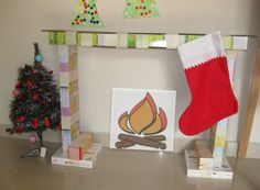 Making our own fire place for our stockings this christmas, kids will love it.