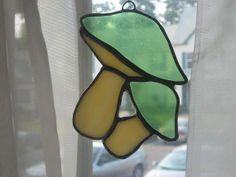 Mushroom Sun Catcher Stained Glass Kitchen by MikesStainedGlass, $24.99