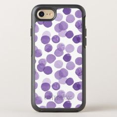 Big Purple Dots Pattern OtterBox Symmetry iPhone 8/7 Case - girly gift gifts ideas cyo diy special unique