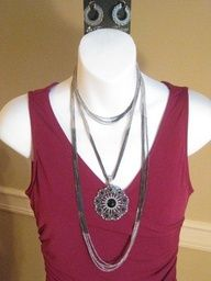 """A different spin on """"Manhattan"""" necklace...paired with """"Romance"""" enhancer and """"Addison"""" earrings"""