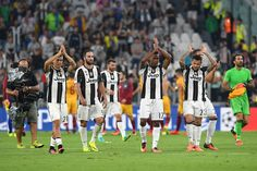 Players of Juventus FC salutes the fans at the end of the UEFA Champions League…