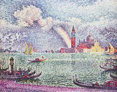 The Athenaeum - Rainbow, Venice (Paul Signac - )