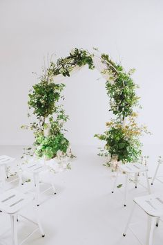 Floral Ceremony Arch - Romantic Wedding Inspiration Celebrating Seasonal Spring Florals & Greenery