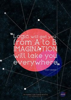 """Logic will get you from A to B. Imagination will take you everywhere."" ~ Albert Einstein"