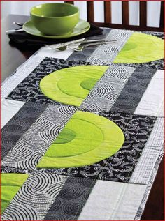 Urban Rainbow table runner from Quilter's World 04/12