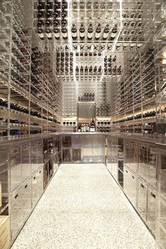 a cosmic look) modern Pacific Heights townhouse wine cellar, San Francisco - Butler Armsden Architects Caves, Cave A Vin Design, Wine Vault, Home Wine Cellars, Wine Cellar Design, Pacific Heights, Wine Display, In Vino Veritas, Wine Storage