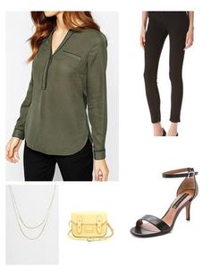 Army Green and black pants for a perfect business casual look or weekend.