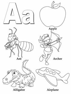 My A to Z Coloring Book Letter E coloring page - simple coloring ...
