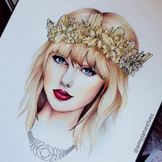 Queen Taylor Swift! #fanart By: @AmyJaneElves.