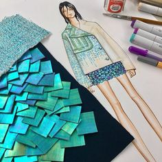Fabric Rendering #copicmarkers #rendering #inspiration