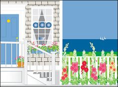 """Maine Note Cards by J & J Graphics  """"Island House"""""""