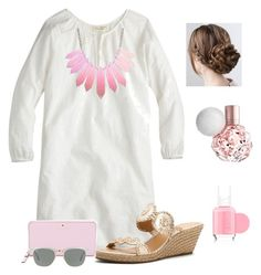 """Because he bends down to listen, I will pray as long as I have breath~"" by raquate1232 ❤ liked on Polyvore featuring J.Crew, Jack Rogers, Kate Spade, Ray-Ban and Essie"