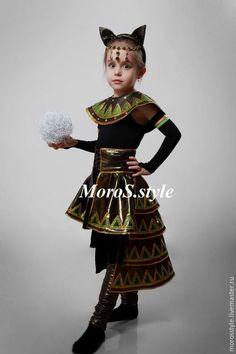 Детские карнавальные костюмы ручной работы. Ярмарка Мастеров - ручная работа. Купить костюм для девочки Египетская кошка. Handmade. Разноцветный