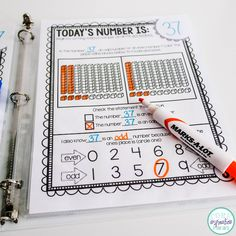 Students struggling to memorize odd and even numbers? Give them daily practice with Today's Number Binder. Page 3: Determine if the number of the day is odd or even using place value blocks and identify the value of the digit in the ones place.
