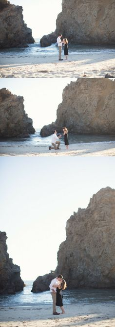 This guy proposed in Big Sur, and it was so beautiful! They had a full audience for this amazing proposal.