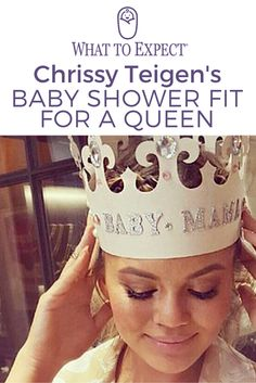 Chrissy Teigen celebrated her shower for her first child, a girl, on Sunday, and just like Mom, the party was glamorous with a touch of humor. #babyshower #whattoexpect | whattoexpect.com