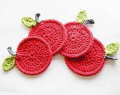 Ravelry: Apple Coasters pattern by Annemaries Breiblog