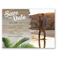 Palm Tree Paradise Save the Date Card