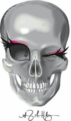 These eyelashes on the skull Los Muertos Tattoo, Estilo Rock, Sugar Skull Art, Sugar Skulls, Skull Wallpaper, Skull Tattoos, Art Tattoos, Irezumi Tattoos, Tattoo Ink