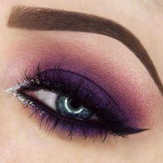 Makeup geek purple eyeshadow looks, purple makeup looks, purple smokey eye, Pageant Makeup, Prom Makeup, Hair Makeup, Purple Wedding Makeup, Purple Eye Makeup, Purple Eyeshadow Looks, Purple Makeup Looks, Easy Eyeshadow, Eyeshadow Makeup