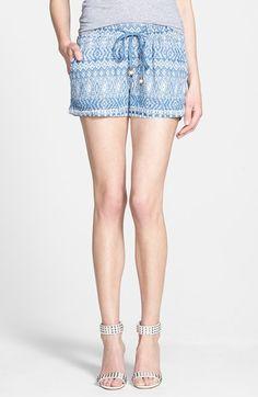 paz print chambray shorts / ella moss