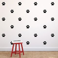 Paw Print Repeatable Pattern Vinyl Wall Decals Dog by danadecals