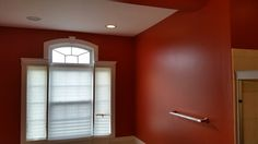 by Sherwin-Williams applied by Blinds, Walls, Curtains, Kitchen, Projects, Painting, Color, Home Decor, Log Projects