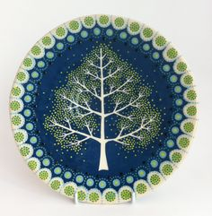 night time tree platter