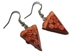 A personal favorite from my Etsy shop https://www.etsy.com/listing/232351924/pecan-pie-slices-earrings-fake-food
