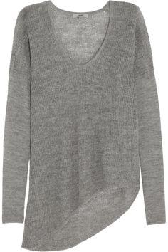 Open-knit alpaca sweater by Helmut Lang