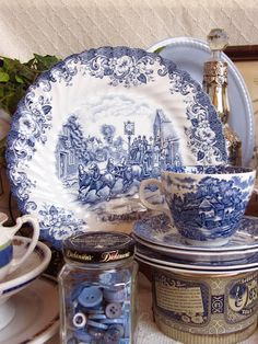 Beautiful blue & white pattern ~ Audrey, Elegant Economies