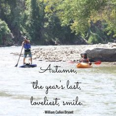 It's officially autumn!  What fall adventures do you have planned? We're looking forward to some paddling in cooler weather and of course- the beautiful fall colors around the lake.