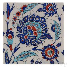 Iznik tile - quartz The rural town of Iznik (old Nicea), an important cultural center during the reign of Suleyman the Turkish Tiles, Turkish Art, Turkish Plates, Moroccan Tiles, Moroccan Decor, Islamic Tiles, Islamic Art, Chinese Ceramics, Japanese Pottery