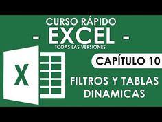 Curso en Excel 2013 - Capitulo 10 (Filtros y Tablas dinamicas) - YouTube