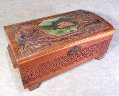 Image detail for -Vintage Cedar Carved Wood Trinket or Jewelry Box by BetterVintage