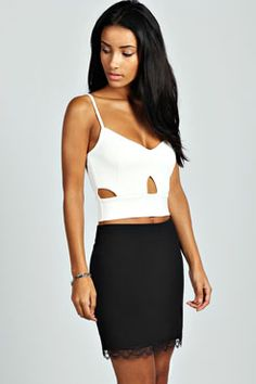 Annabelle Cut Out Detail Bralet at boohoo.com